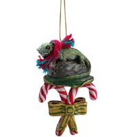 Iguana Candy Cane Ornament