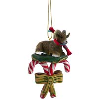 Big Horn Sheep Candy Cane Ornament