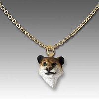 Lioness Tiny One Head Pendant