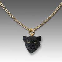 Panther Tiny One Head Pendant