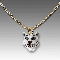 Tiger White Tiny One Head Pendant