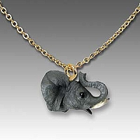 Elephant Tiny One Head Pendant