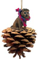 Lion Pinecone Pet Ornament