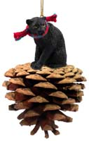 Panther Pinecone Pet Ornament