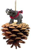 Elephant Pinecone Pet Ornament