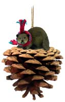 Beaver Pinecone Pet Ornament