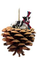 Holstein Bull Pinecone Pet Ornament