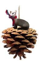 Ferret Pinecone Pet Ornament