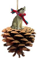 Wolf Timber Pinecone Pet Ornament