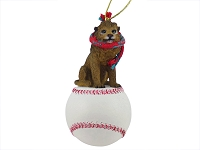 Lion Baseball Ornament