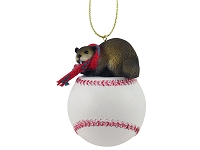 Beaver Baseball Ornament