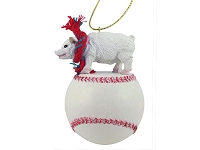 Pig Pink Baseball Ornament