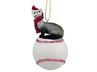 Ferret Baseball Ornament