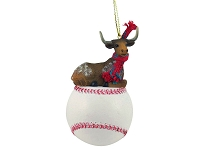 Long Horn Steer Baseball Ornament