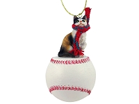 Calico Shorthaired Baseball Ornament