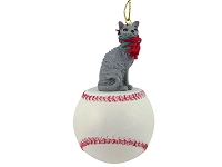 Blue Cornish Rex Baseball Ornament