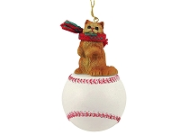 Red Persian Baseball Ornament