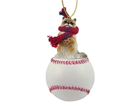 Ragdoll Baseball Ornament