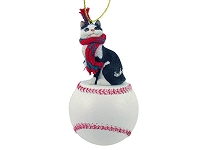 Black & White Manx Baseball Ornament