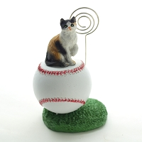 Calico Shorthaired Baseball Memo Holder
