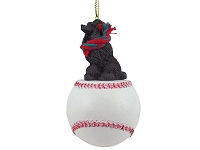 Poodle Chocolate Baseball Ornament