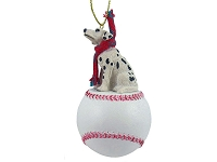 Dalmatian Baseball Ornament