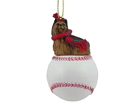Yorkshire Terrier Baseball Ornament