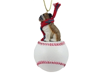 Bulldog Baseball Ornament