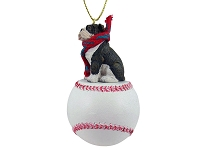 Bulldog Brindle Baseball Ornament
