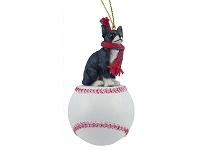 Chihuahua Black & White Baseball Ornament