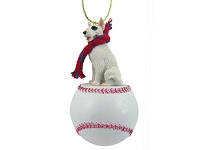 Bull Terrier Baseball Ornament