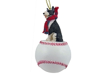Bull Terrier Brindle Baseball Ornament