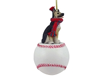 German Shepherd Tan & Black Baseball Ornament