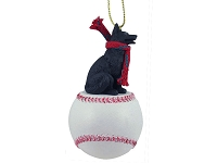 German Shepherd Black Baseball Ornament