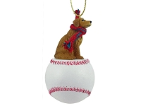 Golden Retriever Baseball Ornament