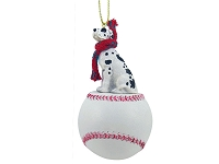 Great Dane Harlequin w/Uncropped Ears Baseball Ornament