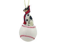 Rat Terrier Baseball Ornament