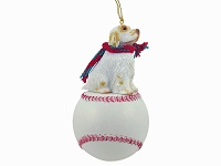 Clumber Spaniel Baseball Ornament