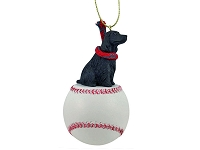 Cocker Spaniel English Black Baseball Ornament