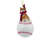 Chihuahua Longhaired Baseball Ornament