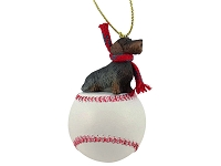 Wire Haired Dachshund Baseball Ornament