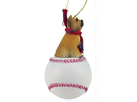 Briard Baseball Ornament