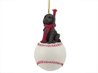 Labradoodle Chocolate Baseball Ornament