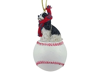 Cocker Spaniel Black & White Baseball Ornament