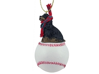 Cocker Spaniel Black & Tan Baseball Ornament
