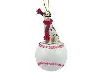 Great Dane Harlequin Baseball Ornament