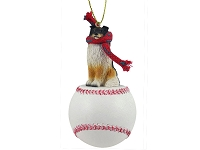 Sheltie Tricolor Baseball Ornament