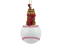 Chow Red Baseball Ornament