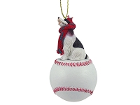 Springer Spaniel Liver & White Baseball Ornament