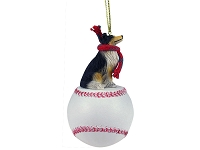 Collie Tricolor Baseball Ornament